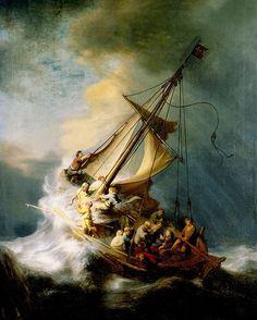 Rembrandt @ Magna Plaza: Christ in the Storm, 1633; oil on wood, 160 x 127 cm; Isabella Stewart Gardner Museum, Boston