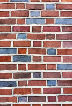 Artistic Orange Blue Brick Wall