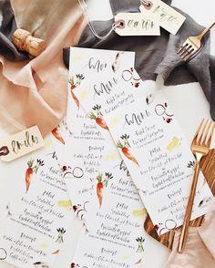hand lettered + illustrated menus via AFabulousFete on instagram