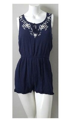 74043a1b9b Cape Juby navy floral print romper size medium at Amazon Women s Clothing  store