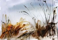 Watercolour landscape sketch by Adrian Homersham