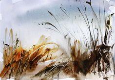 Watercolour landscape sketch by Adrian Homersham