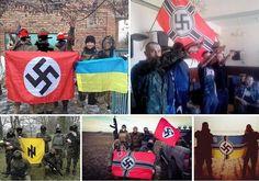 Via Laurent Brayard Démocrates ukrainiens ordinaires dans leur milieu naturel #Ukraine brune