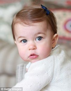 Princess Charlotte pictured ahead of her first birthday in May 2016