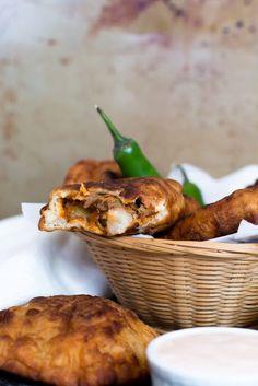 Shredded Pork Empanadas with Adobo Aioli Dip
