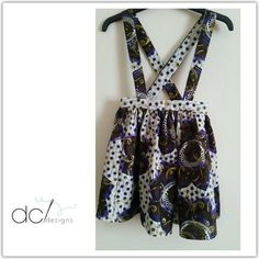 This African Wax Print / Ankara Girls Dungaree Skirt is perfect for the little lady in your life. Comes specifically to your measurments