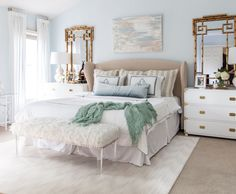 The Reveal of our One Room Challenge: Master Bedroom Makeover!! Our calming, serene and chic master bedroom retreat is a timeless reflection of our style.