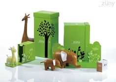 """cute animals and packaging from Zuny  """"Zuny worked with the design team at Bonanza Brand Marketing Group to create miniature worlds for each animal…"""" (via The Dieline.com)"""