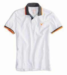 AE Tipped Polo Polo Rugby Shirt, Mens Polo T Shirts, Tee Shirts, Mens Fashion Wear, Ralph Lauren Style, Moda Casual, Outfit Grid, Tee Shirt Designs, Menswear