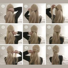 Risultati immagini per half up hair tutorial