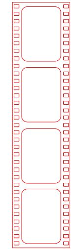 Free Filmstrip Photoshop template and Silhouette cut file from Kate Vickers