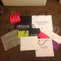 12 shopping bags-pick and offer Please comment on which ones do you want and make an reasonable offer. Or buy them all as listed price. Valentino Bags