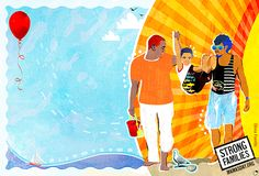 Strong Families e-card #queer #gay #bi #lgbt #illustration #art #pride #family #painting