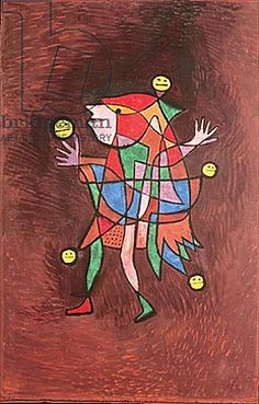 Paul Klee, Figurine: the Fool, 1927, Oil on cardboard, 63,5 x 48,1 cm, Zentrum Paul Klee, Bern