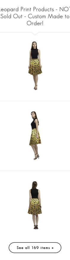 """""""Leopard Print Products - NOT Sold Out - Custom Made to Order!"""" by wackyworkshop ❤ liked on Polyvore featuring skirts, brown skirt, leopard midi skirt, midi skirt, pleated skirt, brown midi skirt, calf length skirts, brown pleated skirt, leopard print skirt and pleated midi skirt"""