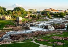 Falls Park - I need to visit this on the way to South Dakota