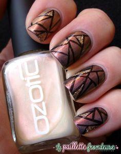 Mosaïque multichromatique - nail design, mosaic