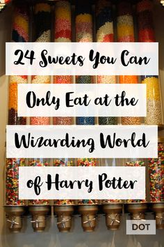 If you ever wondered if any of the Harry Potter Food was real, it is! You can act like a kid in a candy store, or a wizard in Honeydukes with these 24 amazing sweets you can only eat at Universal Studios. Universal Orlando, Universal Studios Food, Universal Hollywood, Universal Studios Florida, Universal Resort, Harry Potter Candy, Harry Potter Food, Harry Potter Universal, Orlando Travel