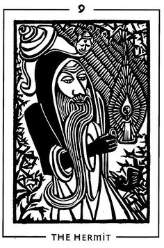 The Hermit - Light and Shadow Tarot by Michael Goepferd and Brian Williams