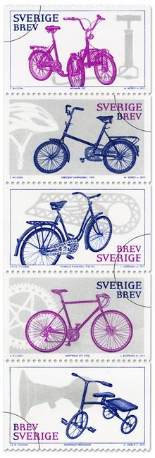 Swedish Stamp Collection #bicycle
