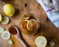 Lemon Ginger and Honey All-Natural Remedy For Cold and Flu