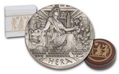 Tuvalu Coins /  2015 Tuvalu 2-oz Silver Goddess of Olympus Hera High Relief