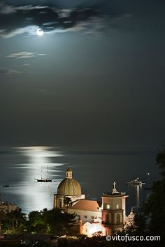 Positano, Amalfi Coast What an awesome picture of Positano. ...was on the coast at night on a tour bus...