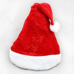 52cd4ad5ebdac New Red Christmas Thick Soft Plush Santa Claus Hat New Year Xmas Holiday  Fancy Dress Costume