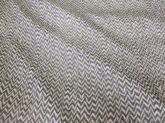 Black & Grey Chevron Printed Chiffon Dress/Scarf Fabric. Price