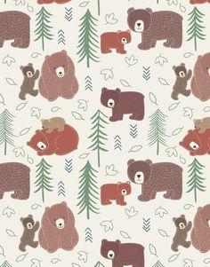 Fabric Big Bear Cream - Main - 102330