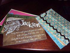 """Create Prayer Cards with scrapbook paper or index cards, then use a binder ring to keep them together. This idea was used from Paul in """"A Praying Life"""""""