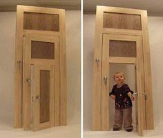 Small, Medium & Large: Three-in-One Interior Door Design
