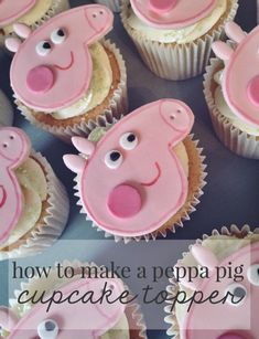 Easy, zero stress ideas for a DIY Peppa Pig party. Lots of ideas for food and snacks here! Peppa Pig Cookie, Peppa Pig Birthday Cake, Peppa Pig Cupcake, 3rd Birthday, Birthday Ideas, Birthday Parties, Pig Cupcakes, Pig Cookies, Fondant Cake Toppers