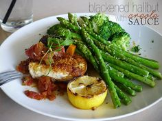 Blackened Halibut with Creole Sauce  @Chocolate Infused Escapades