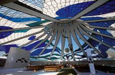 BRASÍLIA ARCHITECTURE:  The 'crown of thorns' Catedral Metropolitana is a religious masterwork and the interplanetary Teatro Nacional is out of this world! Brasília is a city overloaded with architectural gems designed by a genius inspired by the concept of a better future.