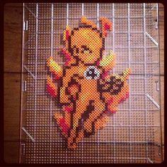 Torch Man - Fantastic Four perler beads by mastablasta3