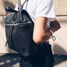 Need a black leather bag for school or traveling. Black Leather Backpack f83fe0200739d
