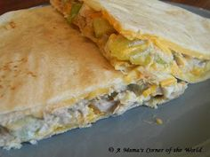 Quick and Easy Lunch Idea: Tuna Melt Quesadilla Recipe ~ A Mama's Corner of the World