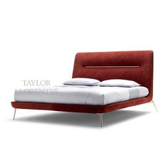 A modern and architectural design bed. Upholstered in the finest hand dyed natural leathers of the collection. Bed Furniture, Modern Furniture, Leather Bed, Higher Design, Headboards For Beds, Bedroom Bed, Bedding Collections, Bed Design, Bed Frame