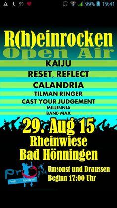Updated Line Up for Rheinrocken in Bad Hönningen!