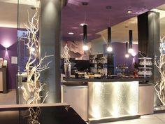 Violet coffee shop decor...Italian Style;-)