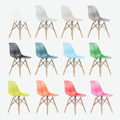 Eames Inspired Eiffel Plastic DSW Lounge Dining Chairs - Retro - Panton in Chairs Eames Dining Chair, Panton Chair, Dining Table, Used Chairs, Metal Chairs, Blue Chairs, Childrens Rocking Chairs, Overstuffed Chairs, Scandinavian Dining Chairs