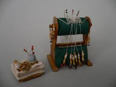 Miniature Bobbin Lace Bolster by StorybookMiniatures on Etsy
