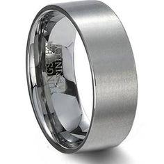 mens gun metal tungsten wedding rings