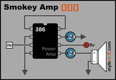 Basic 0.5W power amp. Doesn't get any simpler than this. Good circuit for a simple cigar box amp.