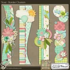 Lovely pastel colours ~ Connie Prince: Amazing Border Ideas, and ideas for Layouts and Titles Scrapbook Borders, Scrapbook Designs, Scrapbook Embellishments, Scrapbook Sketches, Scrapbook Page Layouts, Scrapbook Albums, Scrapbook Cards, Baby Scrapbook, Candy Cards