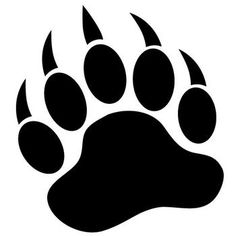 Grizzly Bear Paw Print- right forearm.