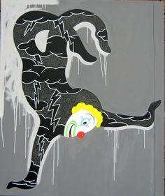 """andrea mattiello """"acrobata sul grigio""""  acrilico cm 100x120; 2010 #andreamattiello #mattiello #arte #art #contemporaryart #italianartist #artista #artistaemergente #acrilico #tela #tecnicamista #acrylic #canvas #collage"""