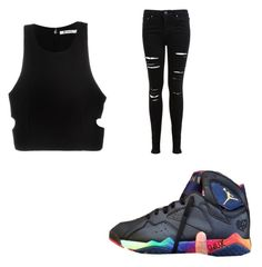 """""""black on black"""" by boydcolby on Polyvore featuring T By Alexander Wang and Miss Selfridge"""