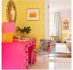 Great pops of color! Bright and sunny. Feminine and sophistication